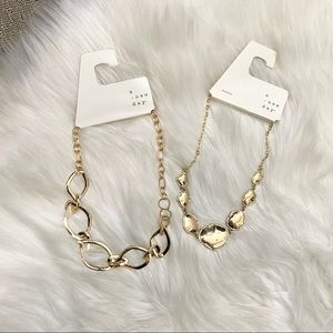 NWT A New Day 2 Gold chain necklaces